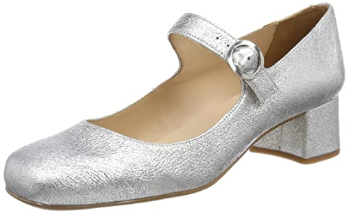 Unisa Inexes_se, Mary Jane para Mujer, Plateado (Silver), 40 EU