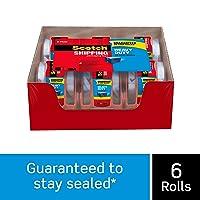 Scotch Brand Heavy Duty Shipping Packaging Tape 6 Rolls