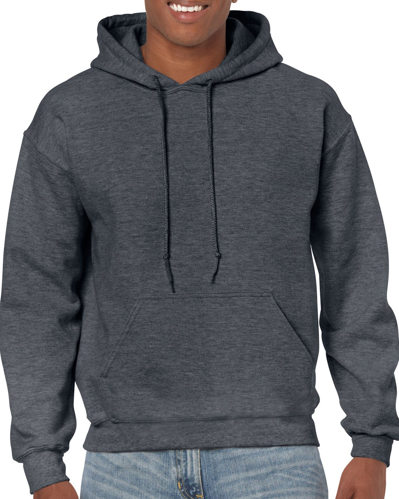 Gildan Men's Big and Tall Heavy Blend Fleece Hooded Sweatshirt G18500, Dark Heather, XX-Large by Gildan