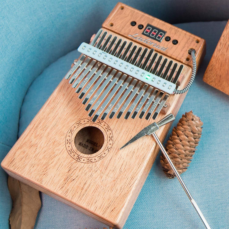 Ladoruai 17 key Kalimba, Smart Illuminated Thumb Piano, Tuning Hammer and Study Instruction(120 songs option) by ladoruai (Image #3)