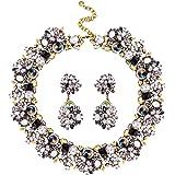 Jane Stone Statement Bling Rhinestone Crystal Choker Collar Necklace Fashion Chunky Jewelry