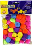 Creativity Street Pom Pons 50-Piece x 1 Inch, Hot Assorted Colors