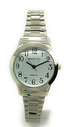 Amazon.com: Reloj de pulsera elástico para mujer, diseño ...
