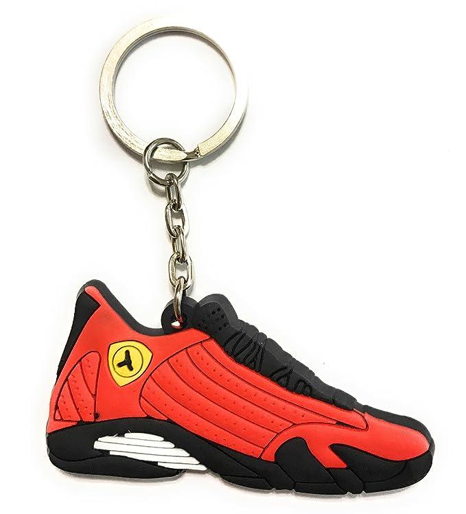 Zapatos Sneaker llavero aj-14 Retro, Gris/Negro: Amazon.es ...