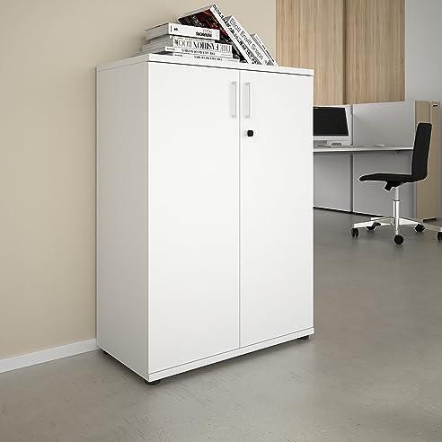 PROFI Aktenschrank abschließbar 3OH Weiß Schrank Büroschrank ...