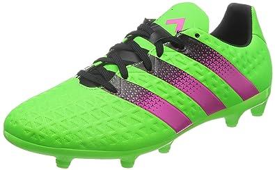 adidas Ace 16.3 FG/AG, Chaussures de Football Homme, Vert/Rose /