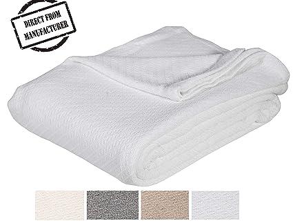 Amazoncom Soft Premium Cotton Blanket Queenfull Size Cozy