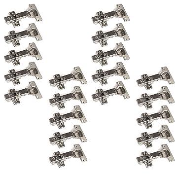 20x 35mm Topfband Topfbänder 110° Dämpfer Kreuzplatte Scharnier Eckanschlag C