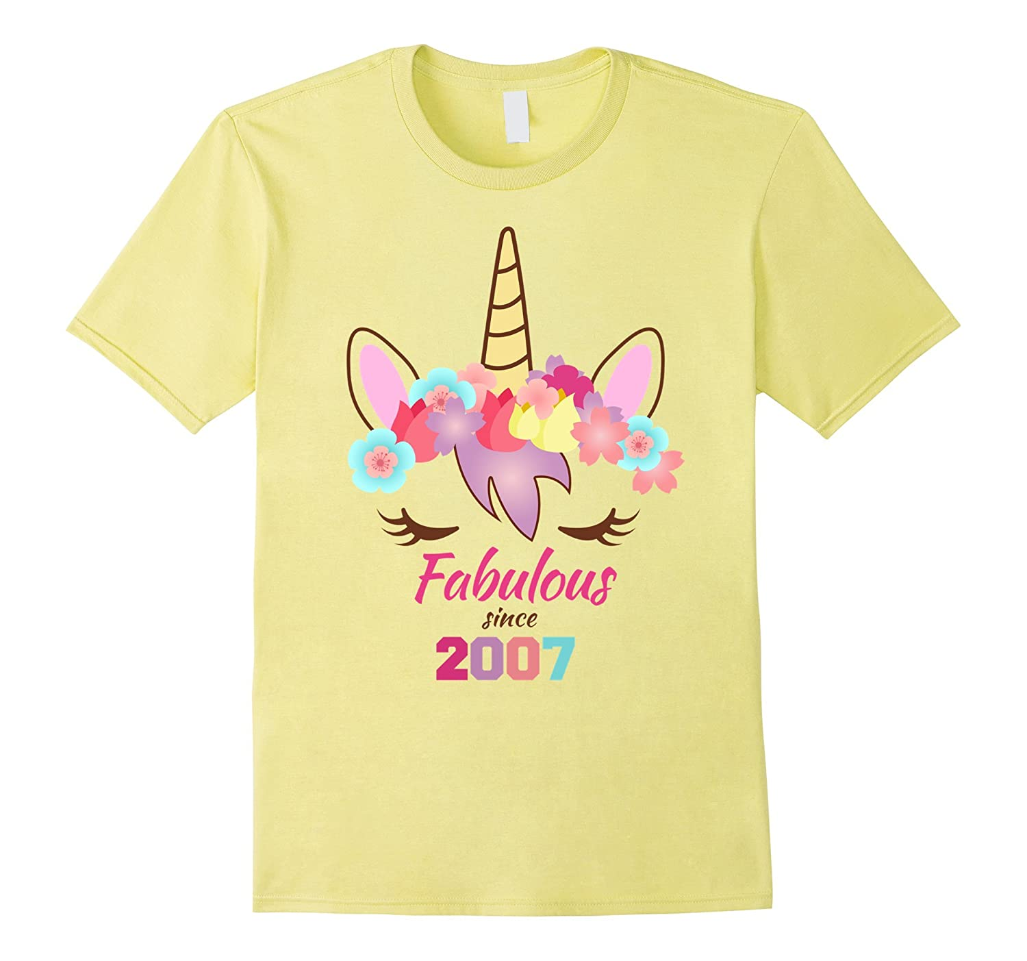 Unicorn Birthday Shirt 10th Birthday 11th Birthday 2007-ANZ