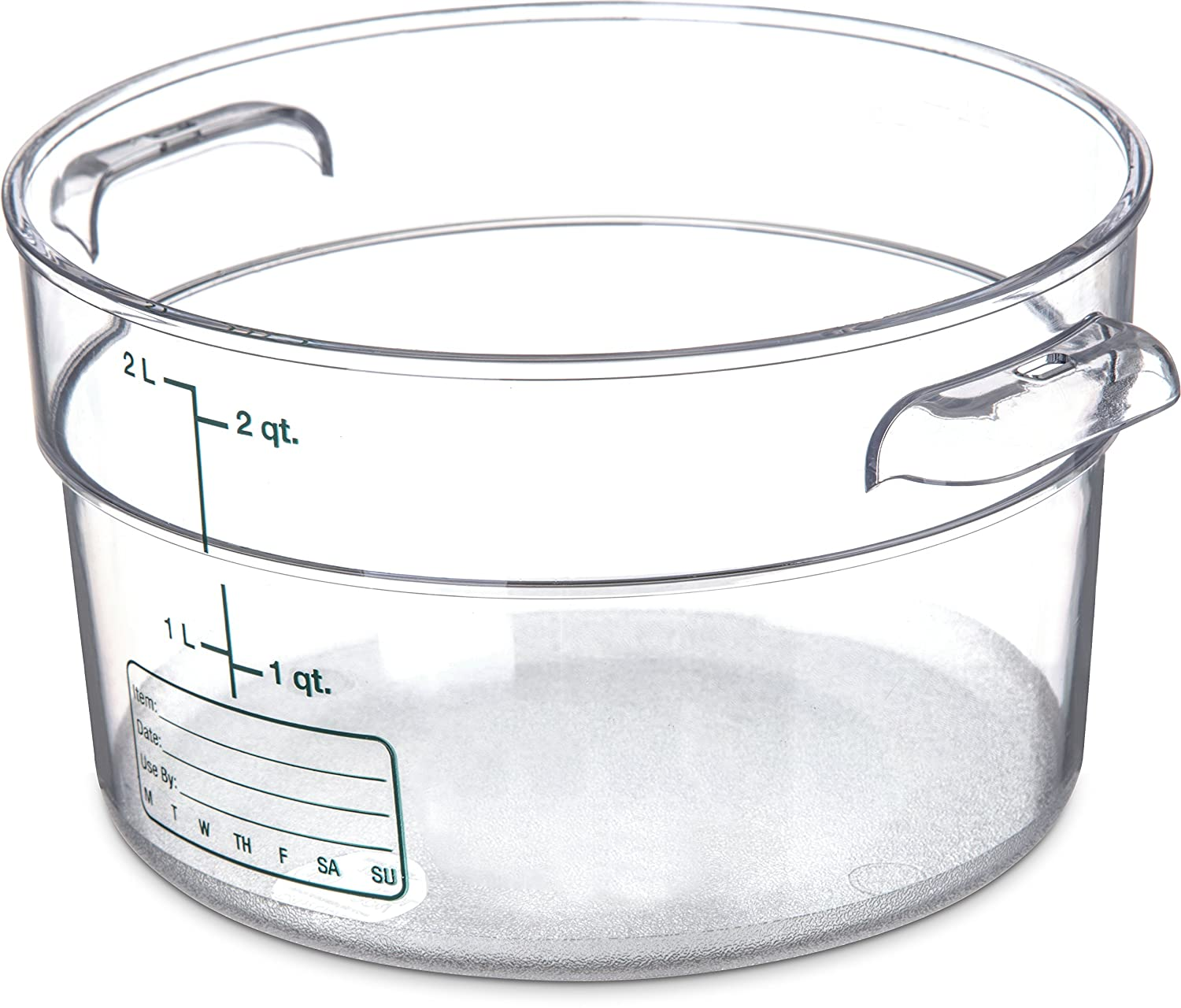 Carlisle 1076307 StorPlus Polycarbonate Round Food Storage Container, 2 Quart, Clear