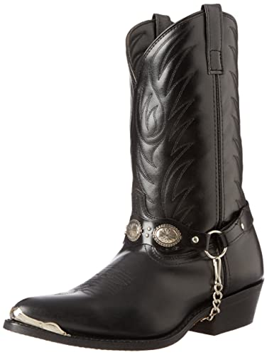 """c185f839d52ad Laredo Men's 12"""" Tallahassee Black Distressed Leather Western Boots ..."""