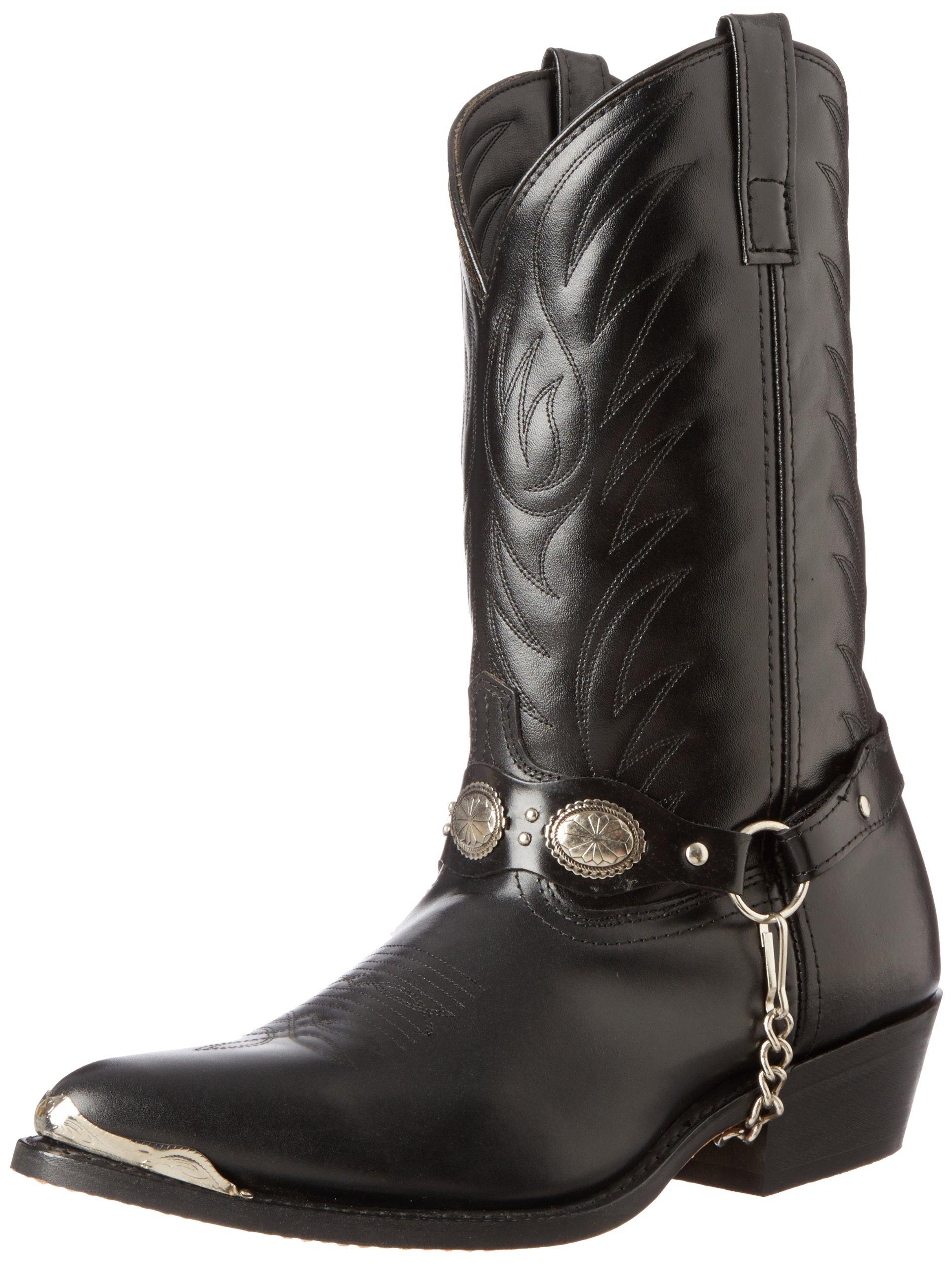 Laredo Men's Tallahassee Western Boot,Black,10.5 D US