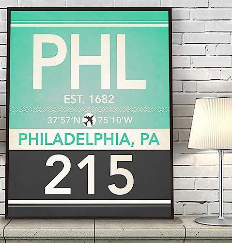 Amazon.com: Philadelphia Pennsylvania PHL 215 267 Vintage Airport ...