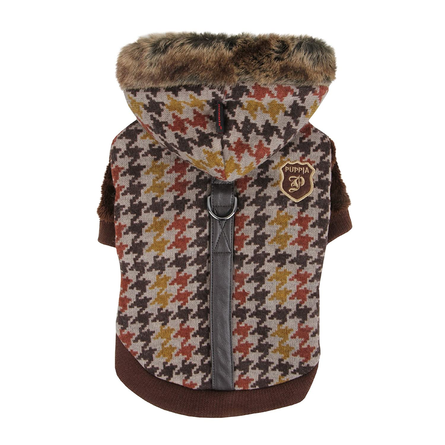 Puppia Tessell Winter Dog Jacket, Small, Brown