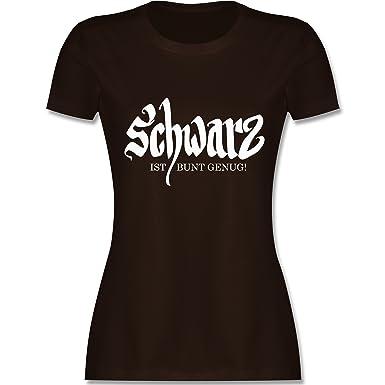 a60973b8663e Nerds   Geeks - Schwarz ist bunt genug - Damen T-Shirt Rundhals ...