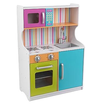 KidKraft 53378 Bright Toddler Wooden Pretend Play Toy Kitchen For Kids