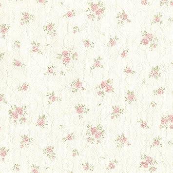 Amazon リリカラ 壁紙48m フェミニン 花柄 ピンク 水廻り Lv 6246