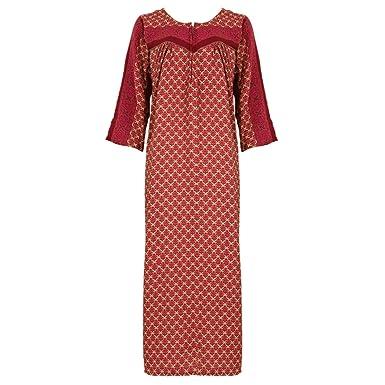 378f28ad1f The Orange Tags Ladies Plus Size Jersey Long Nightie Nightdress Long Sleeve  UK Sizes 22