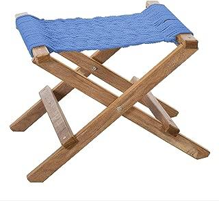 product image for Nags Head Hammocks Cumaru Folding Rope Footstool, Coastal Blue DuraCord