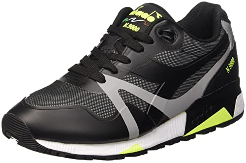 Nero EU 38 DIADORA N9000 BRIGHT PROTECTION SCARPE LOW TOP UOMO /ROSA FLUO 38