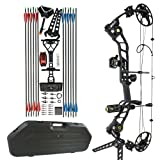 """Apollo Tactical USA, Tactical Compound Bow Package CNC MILLED ALUMINUM. 19""""-30"""" Draw 25lb-70lb Draw Weight. 320 FPS IBO - Shadow Matte Black"""