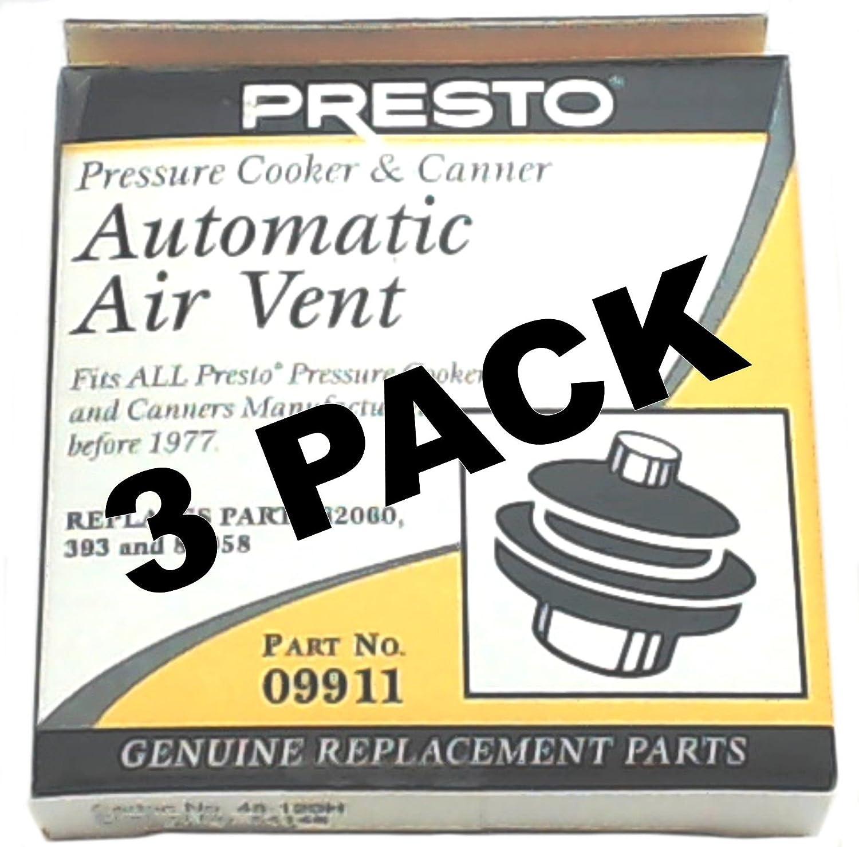 3 Pk, Presto Pressure Cooker Automatic Air Vent 09911