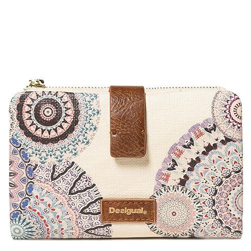 Desigual STAY Pia Mini Medium Wallet Crudo: Amazon.es ...