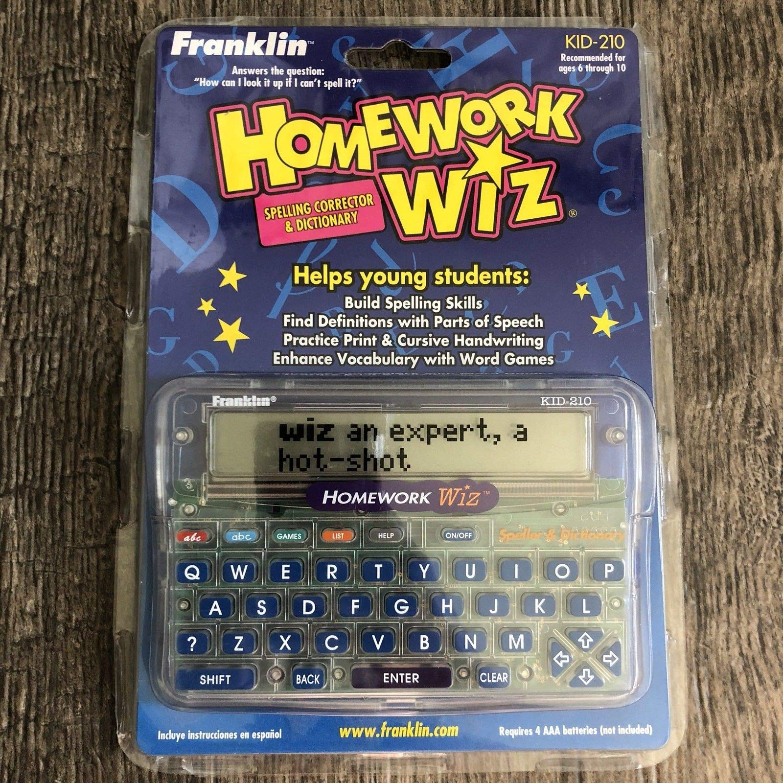 Franklin KID-210 Homework Wiz Childrens Dictionary Speller Correction New School