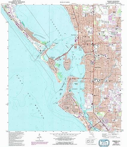 topographic map sarasota county Amazon Com Yellowmaps Sarasota Fl Topo Map 1 24000 Scale 7 5 X