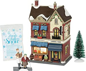 """Department 56 Christmas in The City Village Lundberg Foods Lit Building and Accessories, 8.75"""", Multicolor"""