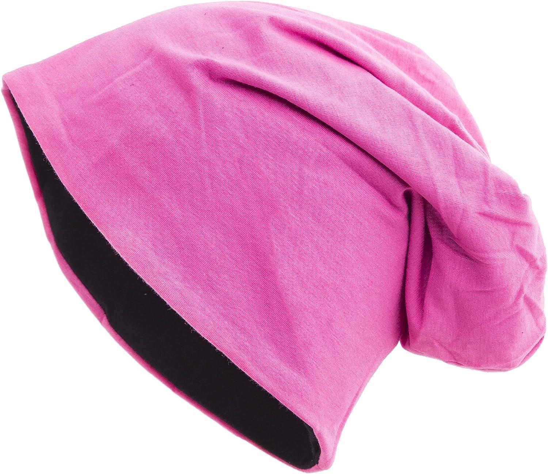 shenky Gorro ca/ído Ideal para la p/érdida de Cabello y Durante un Tratamiento Gorro Reversible Negro//Rosa
