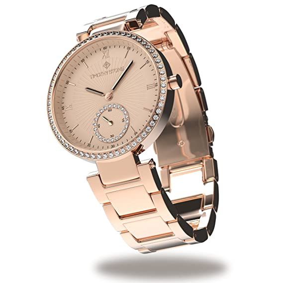 Timothy Stone Collection ELLE Stainless - Reloj Mujer de cuartzo, Color Oro Rosa