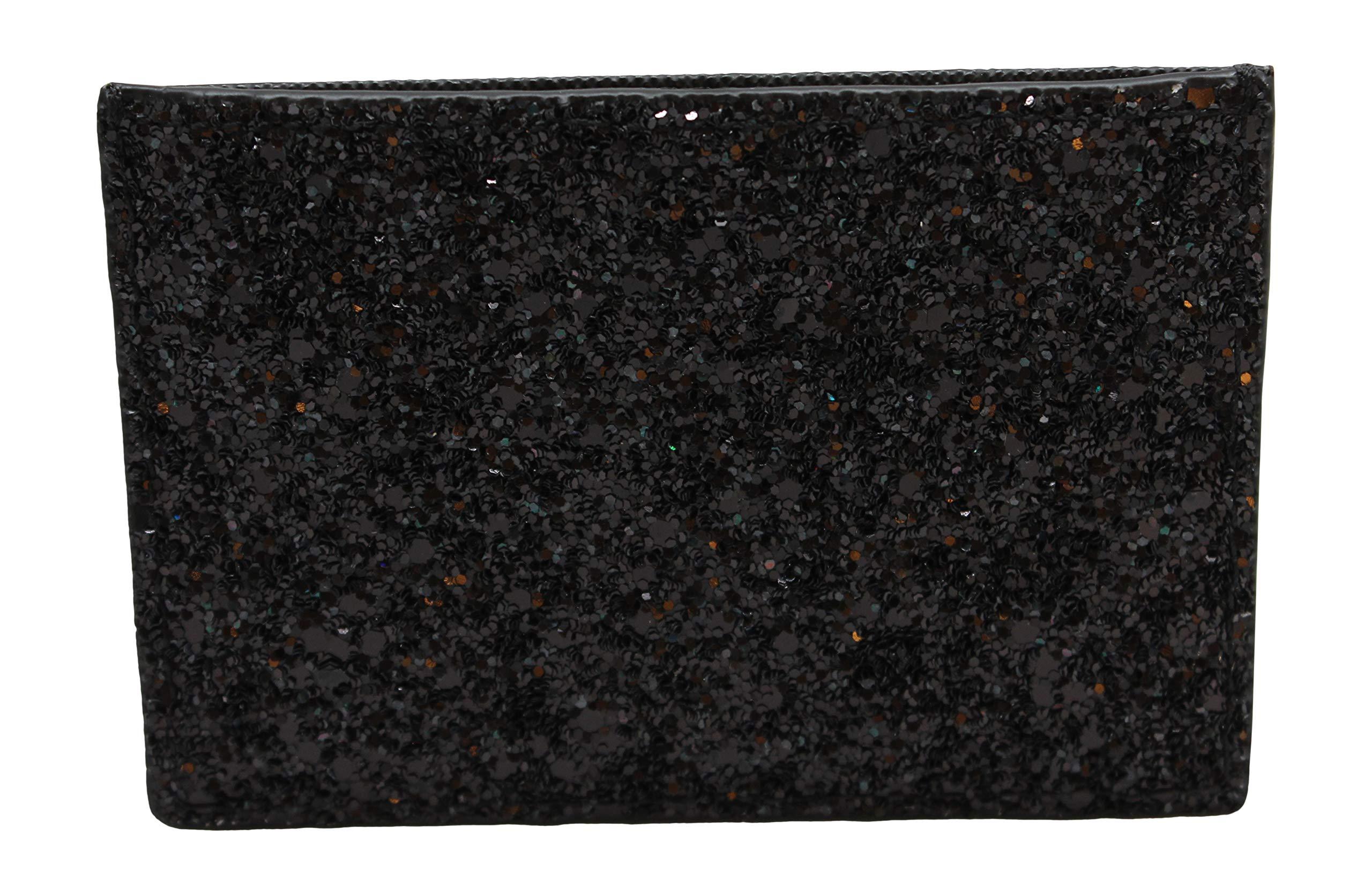 Kate Spade New York Graham Greta Court Wallet Business Credit Card Case Glitter Black by Kate Spade New York