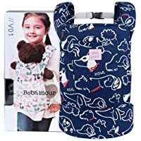 Bebamour Baby Doll Carrier for Kids Front and Back Carrier Original Cotton Baby Carrier for Doll for Boys & Girls (Blue…