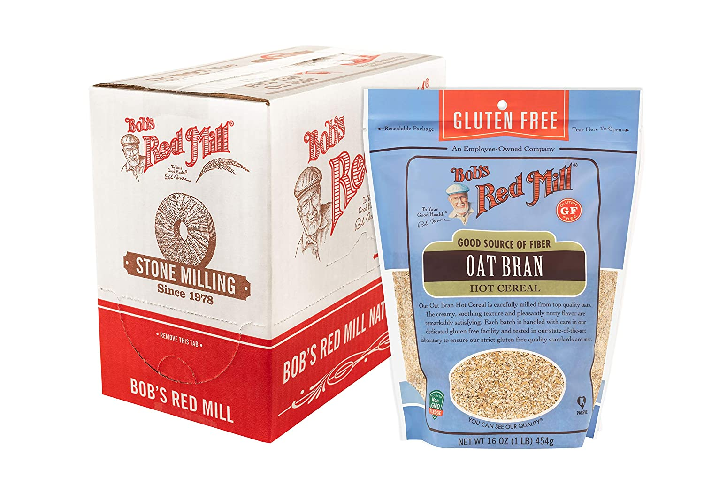 Bob's Red Mill Gluten Free Oat Bran, 16 Ounce (Pack of 4)