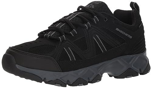 Skechers Crossbar, Sneaker Uomo, Nero (Black/Charcoal Bkcc), 41.5 EU