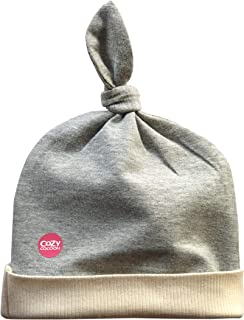 product image for Cozy Cocoon Baby Beanie Hat Stretchy Tie Hat USA Made - Heather Gray