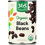 365 by Whole Foods Market, Organic Canned Beans, Black Beans, 15 Ounce