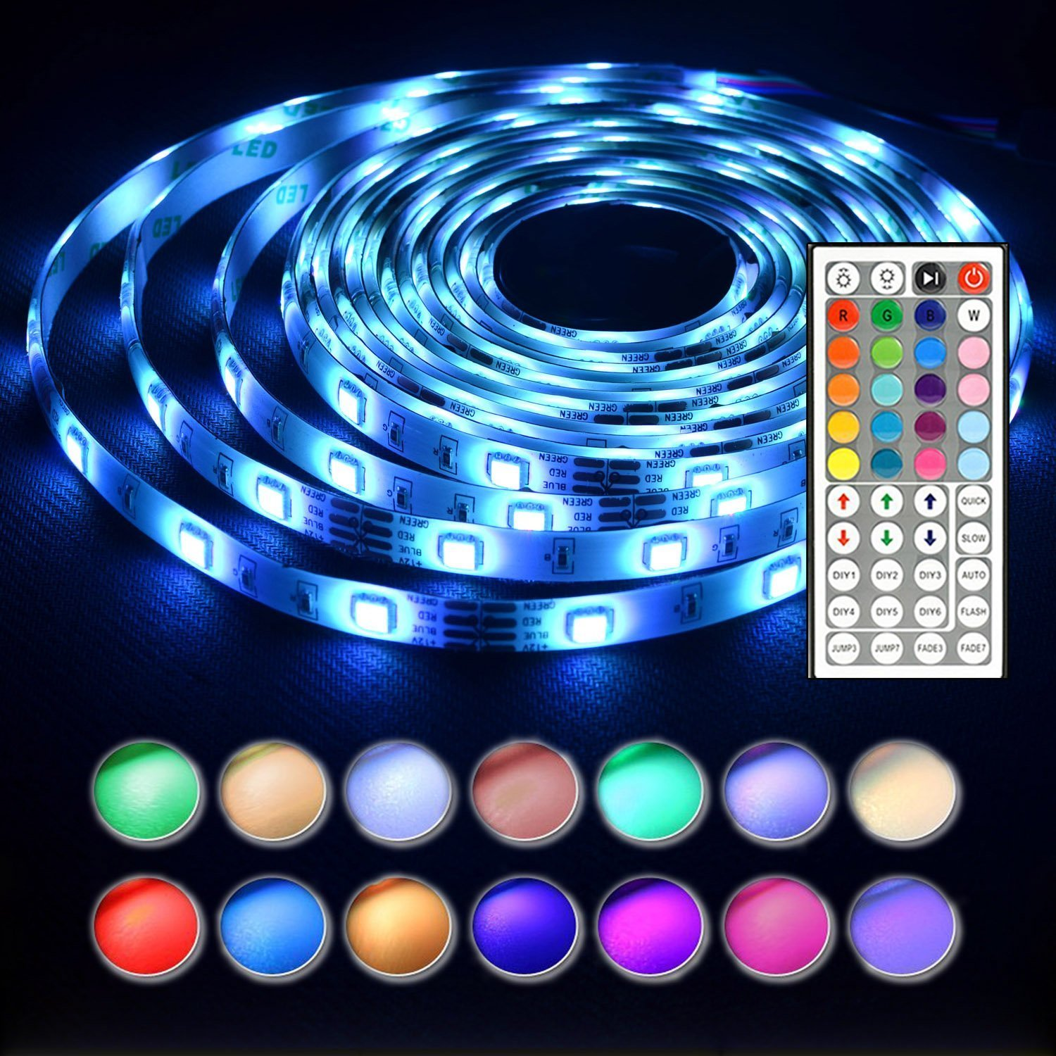 Design Light Ropes And Strings rope lights amazon com len led strip 16 4 ft 5m waterproof 150leds 5050 rgb light complete kit