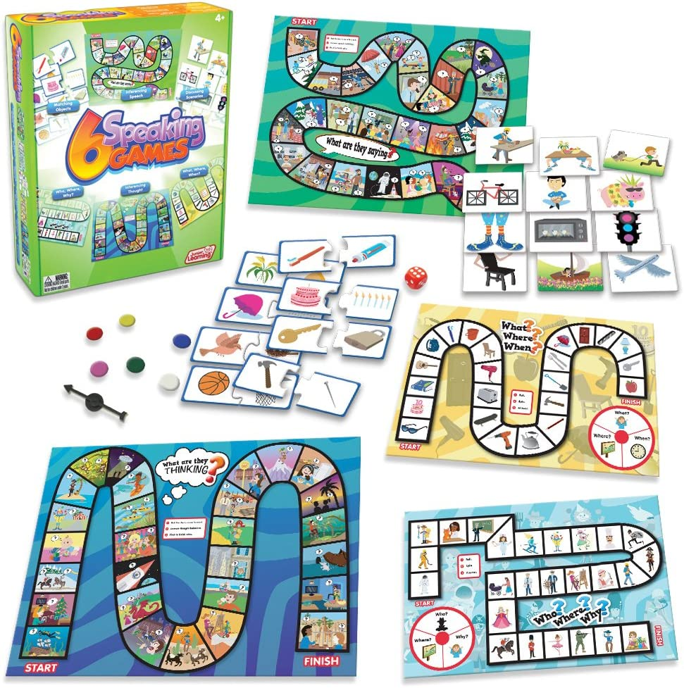 Junior Learning 6 Speaking Board Games for dyslexia