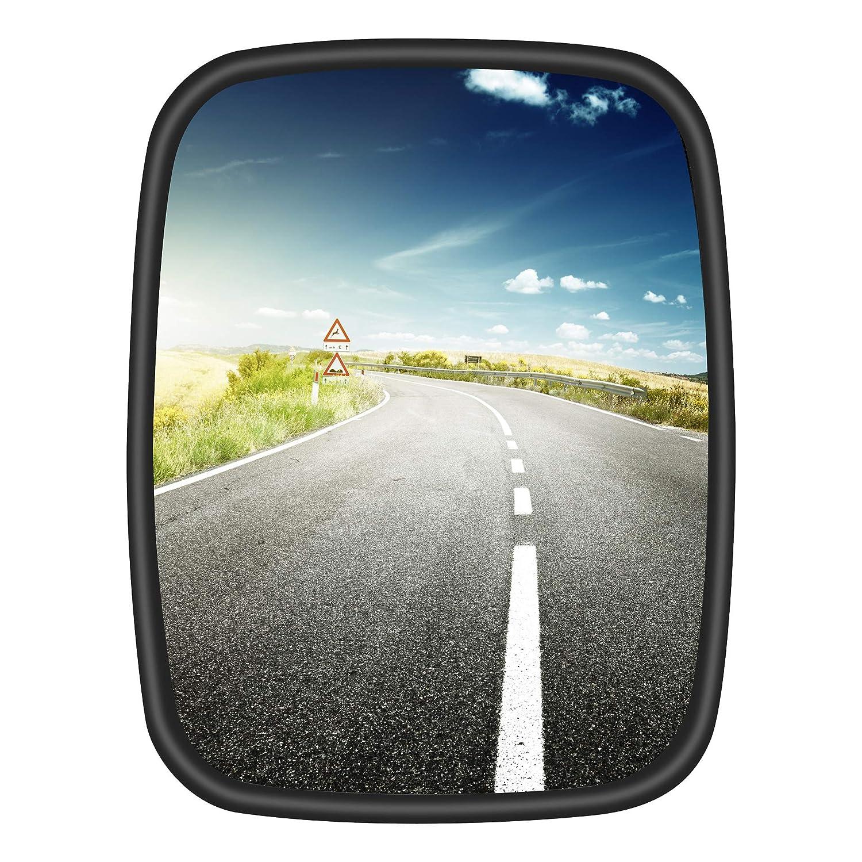 2 espejos universales para camiones furgonetas o autobuses de 22 x 17 cm con soporte flexible.