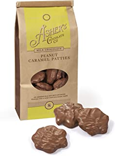 product image for Asher's Chocolates, Gourmet Chocolate Covered Peanut Caramel Patties, Small Batches of Kosher Chocolate, Family Owned Since 1892, Coffee Bag (8 oz, Milk Chocolate)