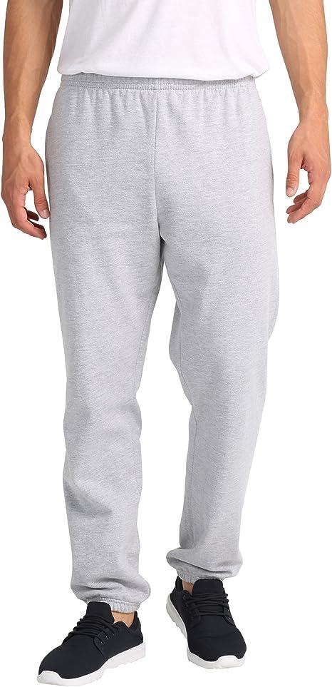 Lower East Pantalones de chándal para hombre, Gris Claro Mezcla ...