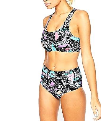 04095dcfa3d OnIn Athletic-two-piece-swimsuits Onin Stylish Sexy Women's Comic Book  Printing Bikini