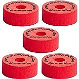 Cympad CYMPWAS15 Lot de 5 Tampons pour cymbale 40 mm x 15 mm Rouge
