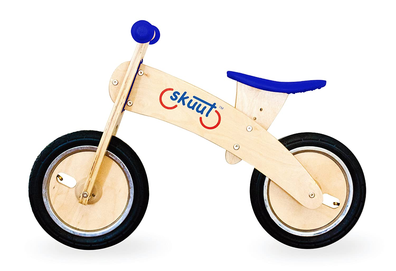 Diggin Active Skuut Wooden Balance Bike Blue Sports