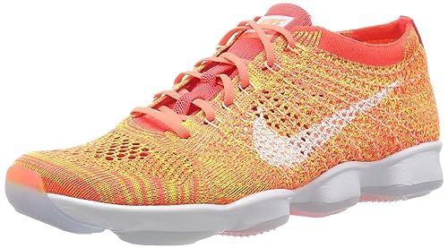 40e8cf3e3e5b Nike Womens Flyknit Zoom Agility Running Shoes-Bright Crimson Bright Mango-9