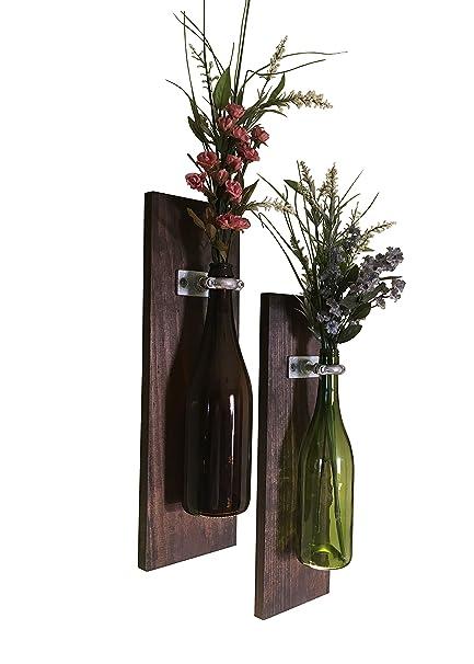 Amazon Meraki Designs Wine Bottle Wall Vases Set Of 2