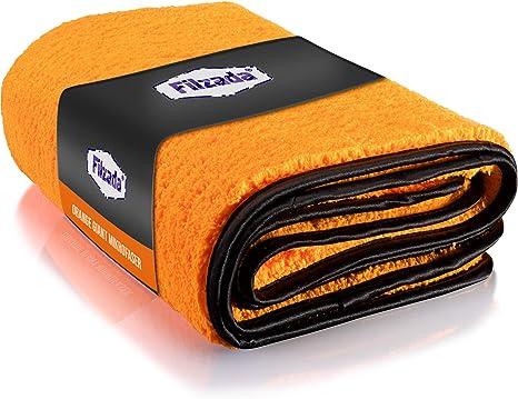Filzada 1x Orange Giant Auto Trockentuch Xxl 60 X 90 Cm Mikrofasertuch Auto Mit Unfassbarer Saugkraft Fusselfreie Microfaser Handtücher Mit Feinstfaser Für Eine Professionelle Autopflege Küche Haushalt
