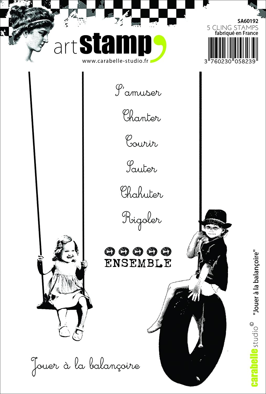 Carabelle Studio SA60192 A6 Tampon Motif Swing Caoutchouc Blanc//Transparent 10 x 14 x 0,5 cm